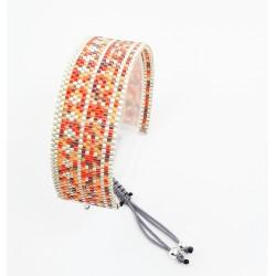 Bracelet de créateur Feu d'artifice et Argent mat seul OPEN TO THE BEAUTIFUL Bijoux de créateur Artisan d'Art Paris