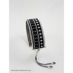 Bracelet Noir Argent seul2 OPEN TO THE BEAUTIFUL Bijoux de créateur Artisan d'Art Paris