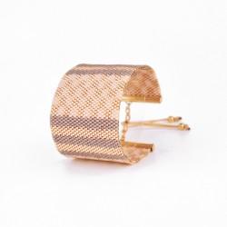 Bracelet Manchette Gris Rose Nude Or seul2 OPEN TO THE BEAUTIFUL Bijoux de créateur Artisan d'Art Paris