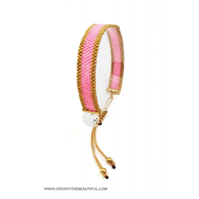 Bracelet Fin Rose indien Or 24 carats présenté OPEN TO THE BEAUTIFUL Bijoux de créateur Artisan d'Art Paris