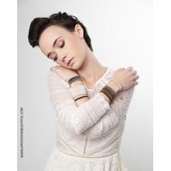 Bracelet Manchette Noir Or situation2 OPEN TO THE BEAUTIFUL Bijoux de créateur Artisan d'Art Paris